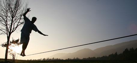 slackline silhouette pic